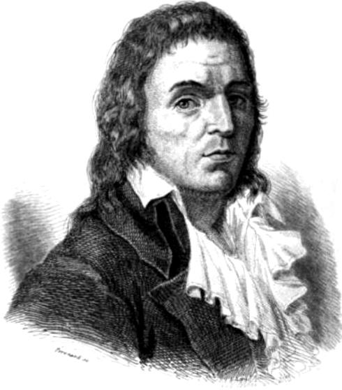 François-Noël Babeuf (1760–1797), considerado o primeiro comunista revolucionário, é mostrado em um retrato de um livro de 1846 de Léonard Gallois (Domínio público