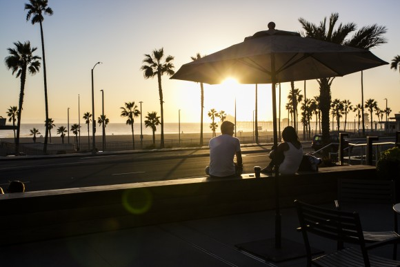 A view of the Pacific Ocean from Pacific City, Huntington Beach. (Channaly Philipp/The Epoch Times)