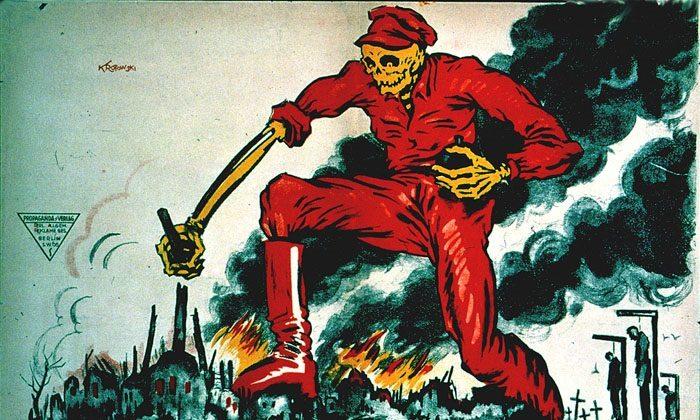 German anti-Bolshevik poster from 1919. (Public Domain)