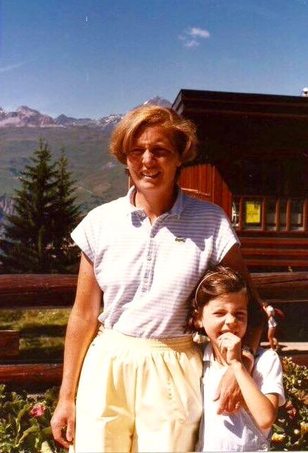 Young Sibylle Eschapasse and her mother. (Rene-Victor Eschapasse)