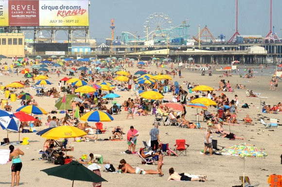 The beach at Atlantic City. (Casino Reinvestment Development Authority)