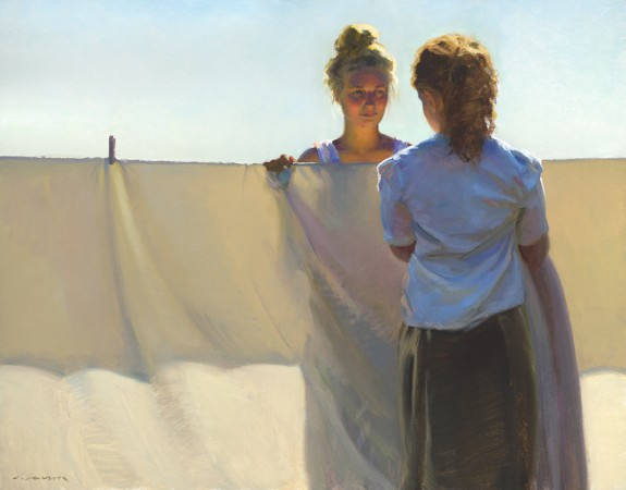 """Larson,"" 2015, by Jeffrey T. Larson. Oil on linen, 36 inches by 46 inches. First place figurative category winner of the 12th International ARC Salon. (Art Renewal Center)"