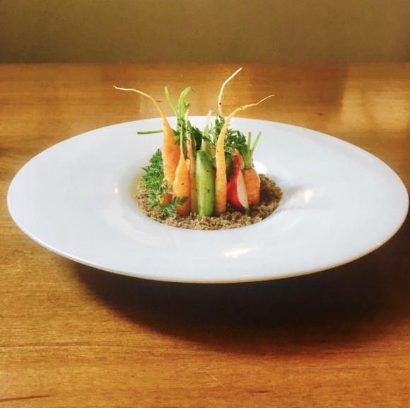 Chef Paul C. Reilly's Colorado Crudite dish. (Courtesy of Saxon & Parole)