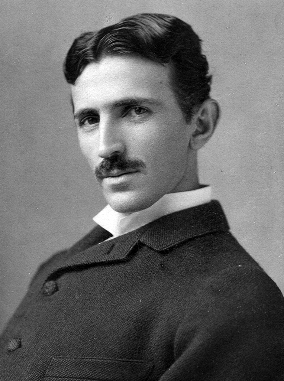 A photograph image of Nikola Tesla (1856-1943) at age 34. (Creative Commons/Wikimedia)