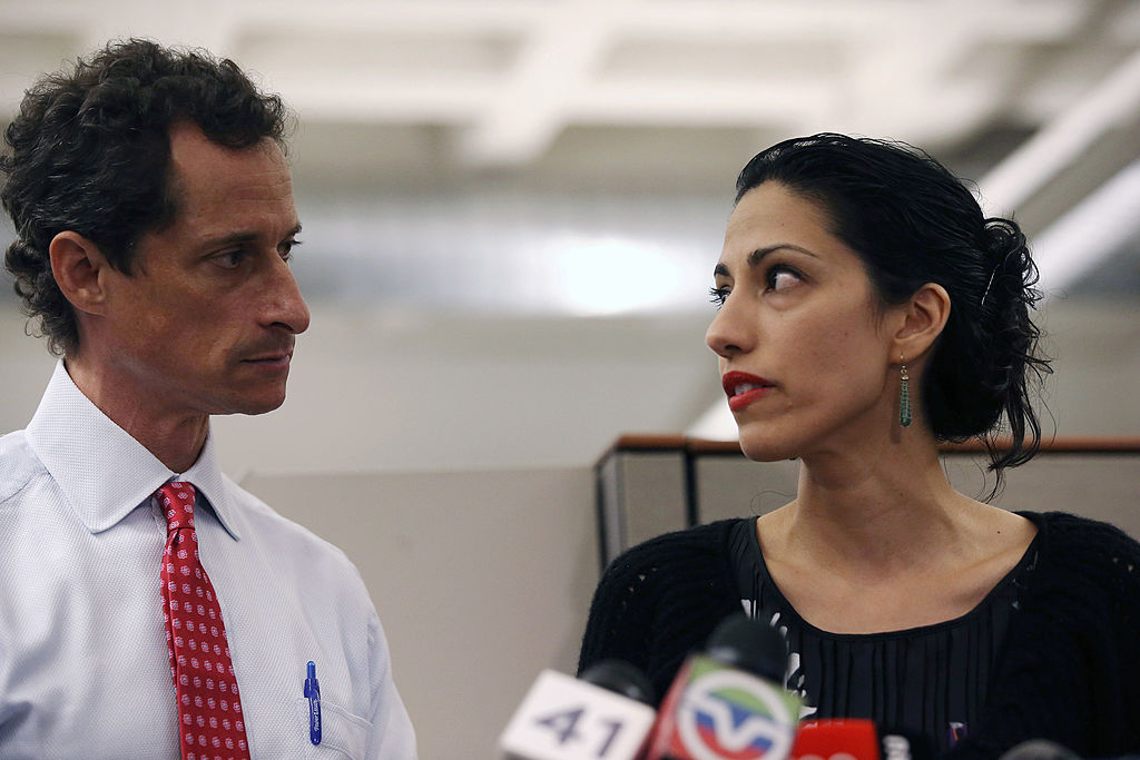 Huma Abedin, wife of Anthony Weiner during a press conference in New York City on July 23, 2013. (John Moore/Getty Images)