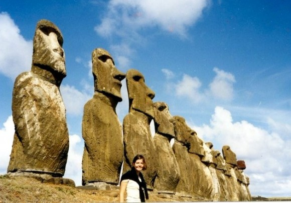 Sibylle Eschapasse on Easter Island, Pacific island of Chile. (Sibylle Eschapasse)