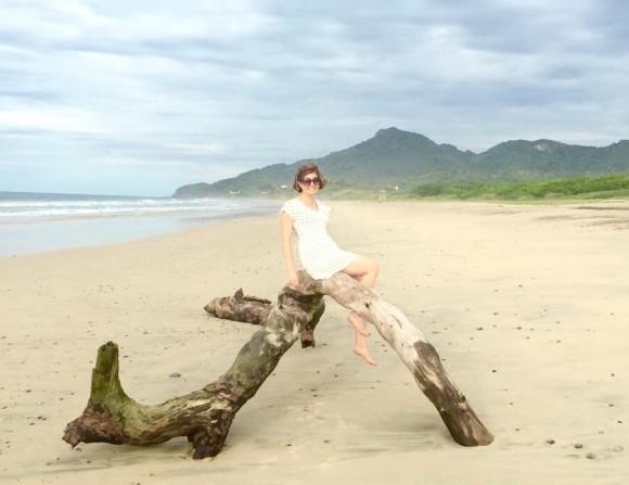Sibylle Eschapasse in Playa Mita, Mexico. (Sibylle Eschapasse)