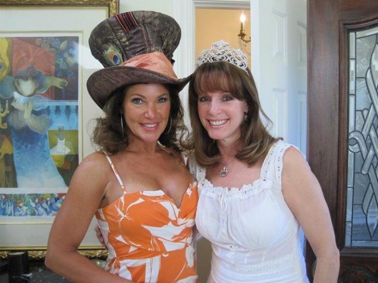 Mad Hatter Hostess Lisa Spoden with Elaine Roecklein (Alessandra Gelmi)