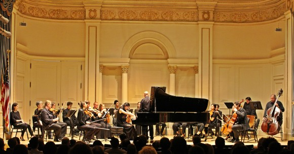 Pianist Lily Zhou, who was chosen for New York Concerti Sinfonietta Carnegie Hall debut from Julie Jordan's Steinway Artist masterclasses in Dallas, performed the Chopin Concerto No. 1 in E minor, Op. 11. (Jeremy Friers)