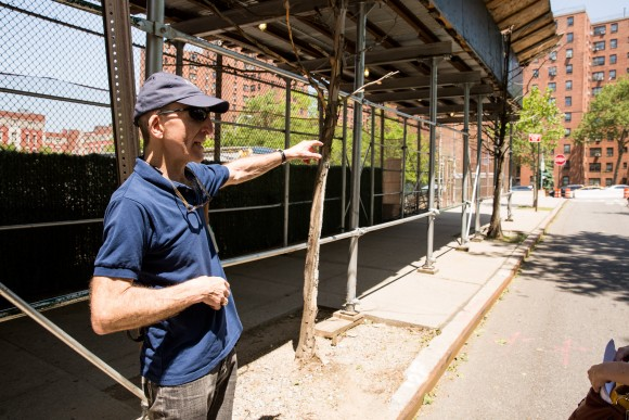 Retired FBI Special Agent Marc Ruskin at the location on the Lower East Side where in the 1990's was involved in bringing down a large number of criminals for counterfeit money. (Benjamin Chasteen/The Epoch Times)
