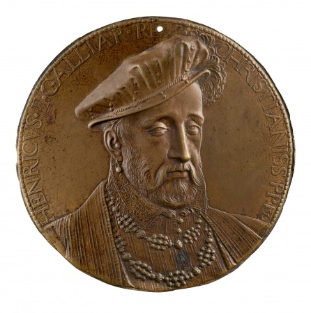 Henri II, King of France (born 1519; reigned 1547–59), dated 1559, by Germain Pilon (circa 1525–1590), 1559. Copper alloy, cast; Stephen K. and Janie Woo Scher Collection. (Michael Bodycomb)