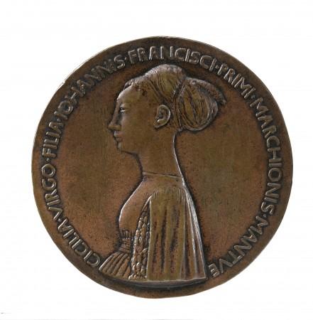 Cecilia Gonzaga, daughter of the duke of Mantua (1426–1451), dated 1447, by Antonio di Puccio Pisano, called Pisanello (circa 1395–1455). Copper alloy, cast; 85.8 mm, Stephen K. and Janie Woo Scher Collection (Michael Bodycomb)