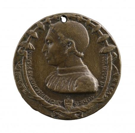 Filippo de' Medici (1426–74), by Bertoldo di Giovanni (1420/30–1491). Copper alloy, cast; The Frick Collection, gift of Stephen K. and Janie Woo Scher, 2016. (Michael Bodycomb)