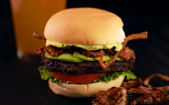Veggie Burger. (Courtesy of Clinton Hall)