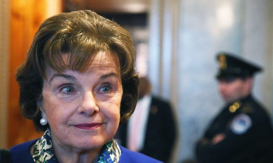 Sen. Dianne Feinstein (D-Calif.) speaks to reporters after finishing a speech on the Senate floor on March 11, 2014. (Mark Wilson/Getty Images)