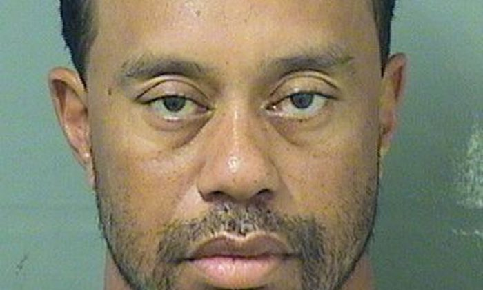 Tiger Eldrick Woods appears in a booking photo released by Palm Beach County Sheriff's Office in Palm Beach Fla., on May 29, 2017. (Palm Beach County Sheriff's Office/Handout via Reuters)