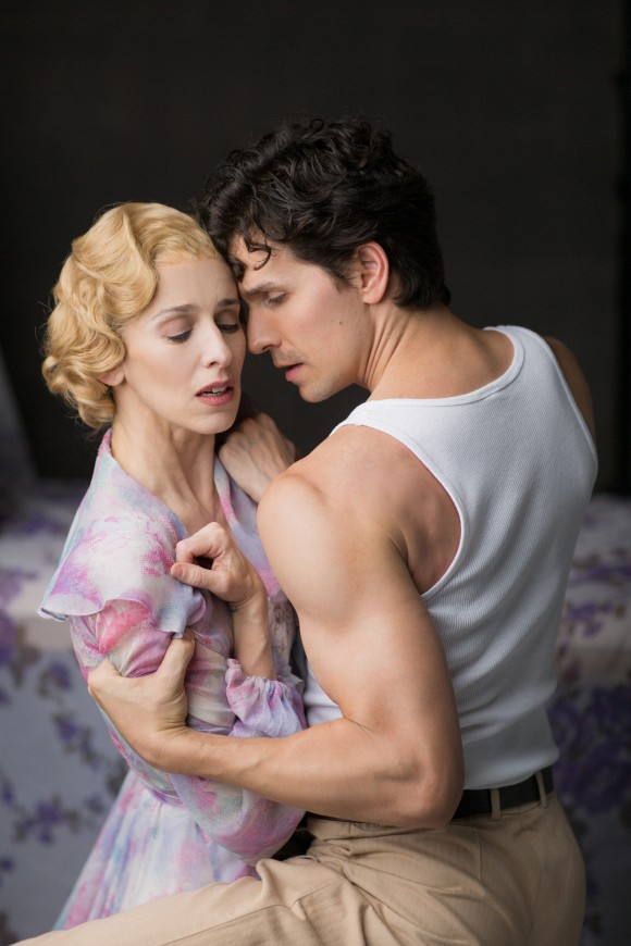 "Sonia Rodriguez as Blanche and Guillaume Côté as Stanley in the National Ballet of Canada's production of ""A Streetcar Named Desire."" (Karolina Kuras)"