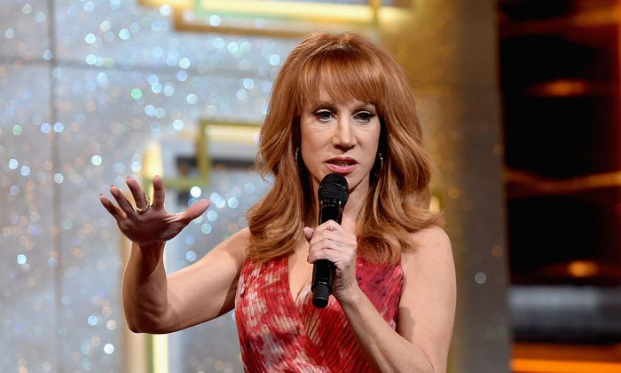Host Kathy Griffin speaks onstage during The 41st Annual Daytime Emmy Awards at The Beverly Hilton Hotel in Beverly Hills, Calif., on June 22, 2014.  (Alberto E. Rodriguez/Getty Images for NATAS)
