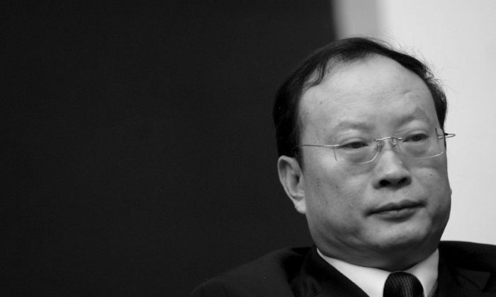 Former statistics bureau chief Wang Baoan attends a news conference in Beijing on Jan. 13, 2010. (Reuters/Stringer)