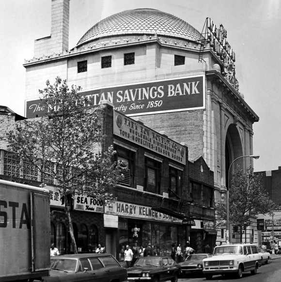 An undated photo of the spot beside the Manhattan Savings Bank (now a HSBC branch) where Hotel Bowery now sits. (50 Bowery Holdings)