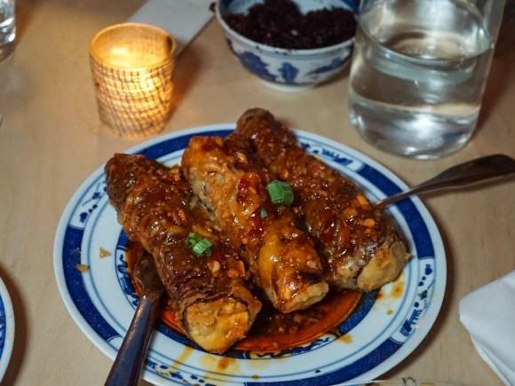 Fried Eggplant Accordions. (Matt Bruck)