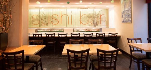 The sushi counter. (Courtesy of Shimizu Sushi and Shochu Bar)