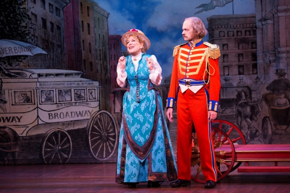 Dolly Gallagher Levi (Bette Midler) and Horace Vandergelder (David Hyde Pierce). (Julieta Cervantes)