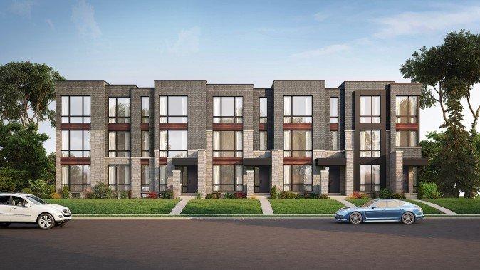 Rendering of Abbey Lane townhouses. (Courtesy of  Poetry Living )