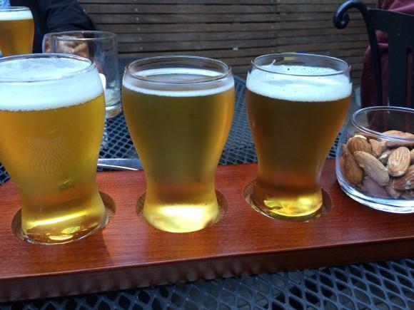 Beer flight. (Courtesy of Bornholm)