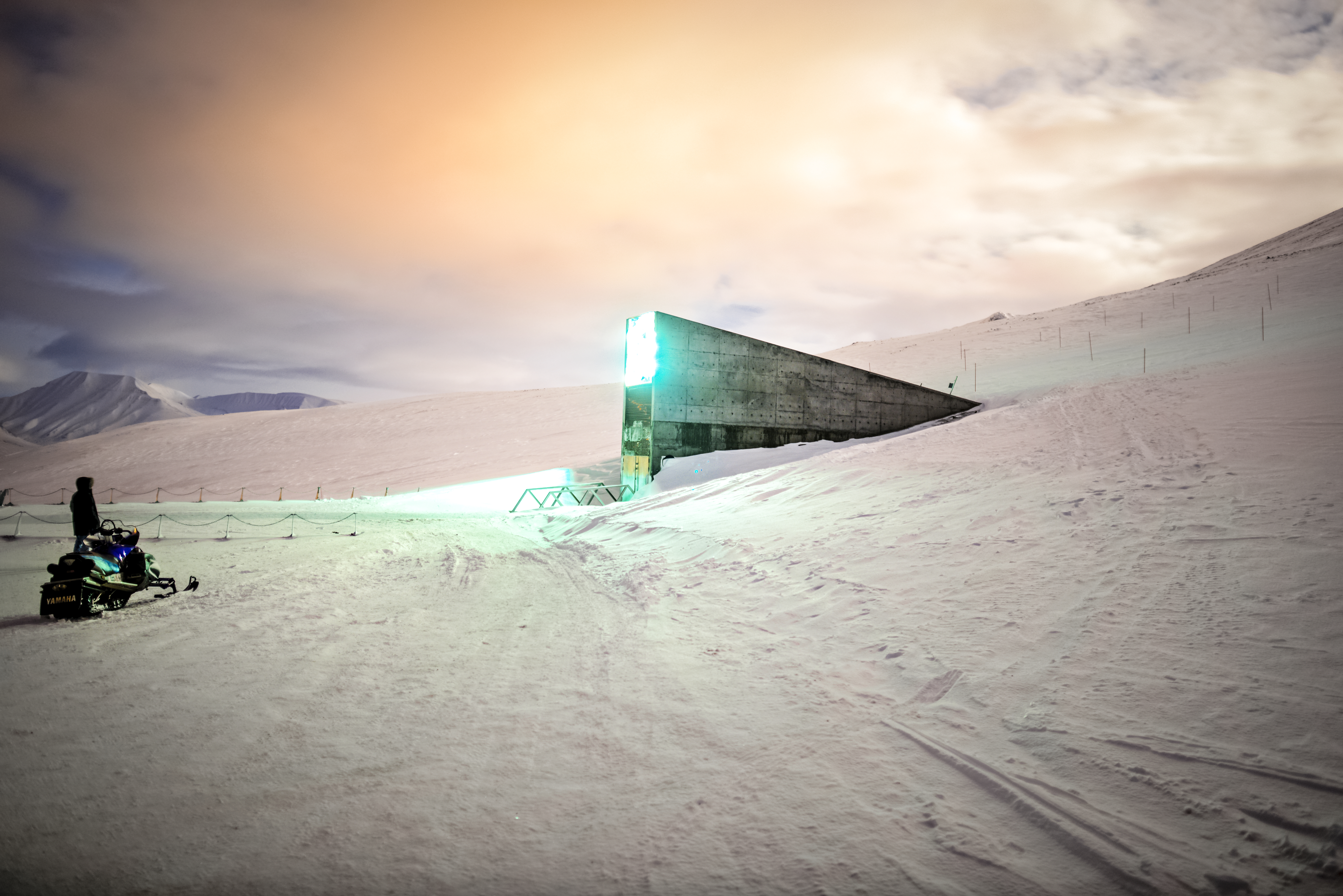 The entrance to the Svalbard Global Seed Vault, or