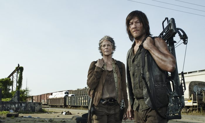 """A scene from """"The Walking Dead,"""" one of the most popular dystopian dramas on Netflix today. (AMC)"""