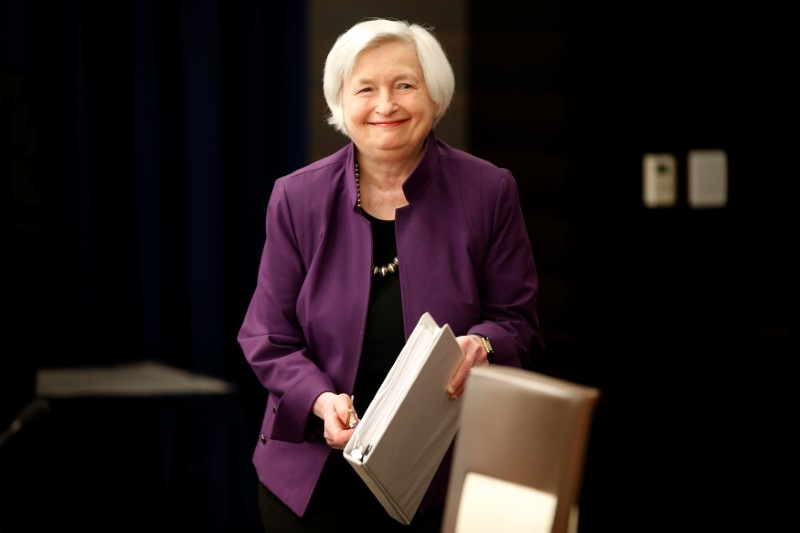 Federal Reserve Board Chairwoman Janet Yellen arrives for a news conference after the Fed releases its monetary policy decisions in Washington, on June 14, 2017. (REUTERS/Joshua Roberts)