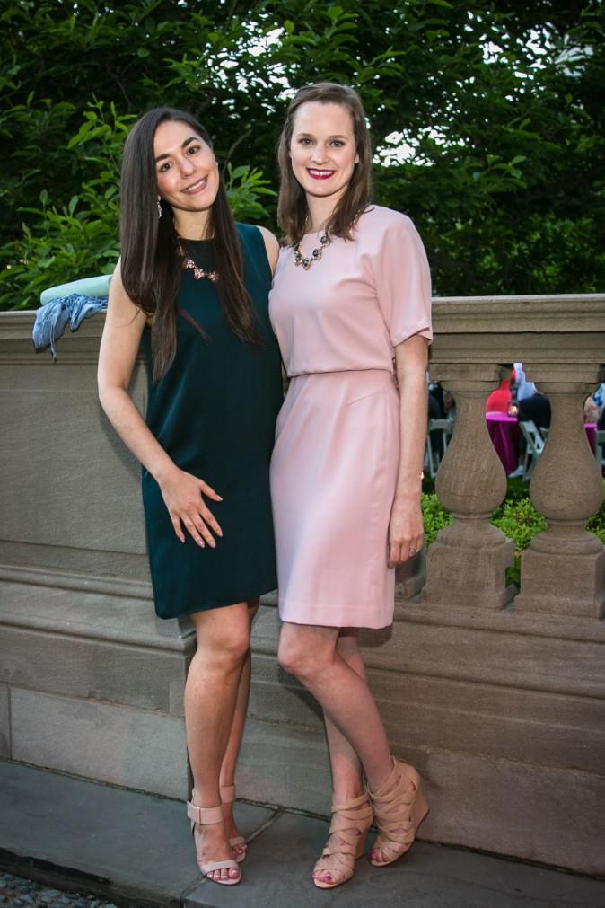 Iris Fernandez and Hanna Giordano. (Benjamin Chasteen/The Epoch Times)