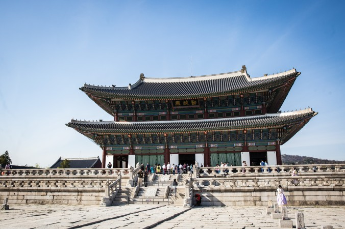 The Throne Hall Compound called Geunjeongjeon Hall at the Gyeongbokgung Palace. (Benjamin Chasteen/The Epoch Times)