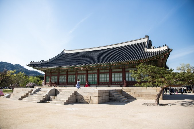 The office quarters at the Gyeongbokgung Palace. (Benjamin Chasteen/The Epoch Times)