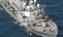 US Navy Ship Destroyer Collides With Gigantic Philippines Transport Vessel Off Japan