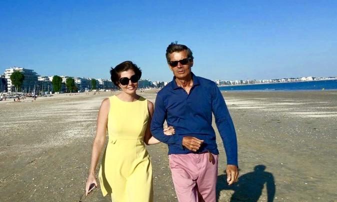 Sibylle Eschapasse and her father Rene-Victor Eschapasse on the beach in La Baule, France.  (Marie-Astrid Eschapasse)