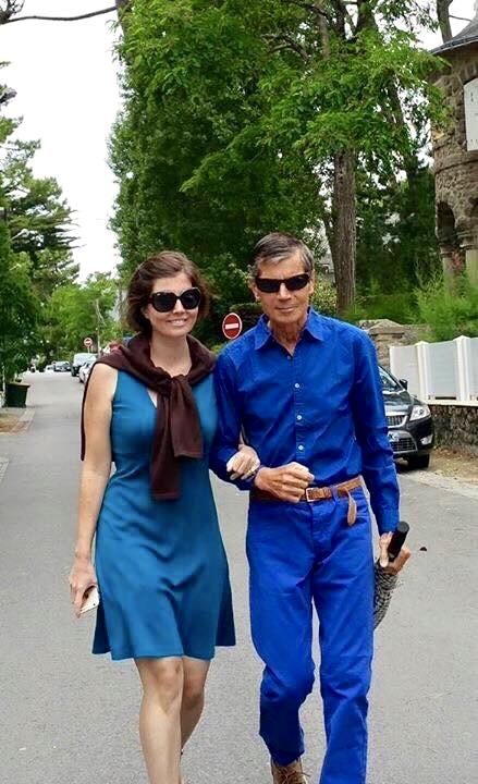 Sibylle Eschapasse and her father Rene-Victor Eschapasse in Paris. (Thomas Eschapasse)