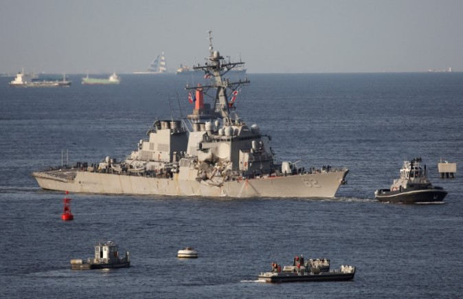 The Arleigh Burke-class guided-missile destroyer USS Fitzgerald. REUTERS/Toru Hanai