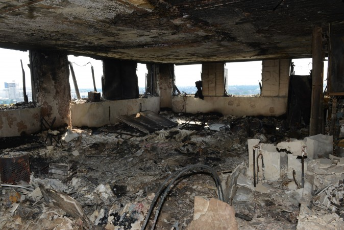 This handout image supplied by the London Metropolitan Police Service on June 18, 2017 shows an interior view of a fire damaged flat in Grenfell Tower in West London, England. (London Metropolitan Police Service via Getty Images)