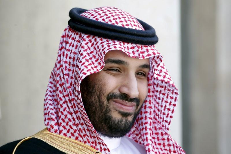 Saudi Arabia's Deputy Crown Prince Mohammed bin Salman reacts upon his arrival at the Elysee Palace in Paris, France on June 24, 2015.(REUTERS/Charles Platiau)