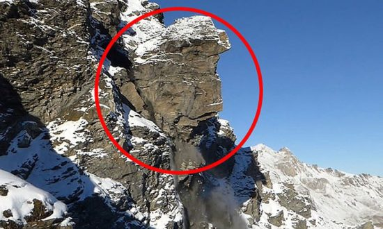 Video: Side of a Mountain Collapses in Switzerland