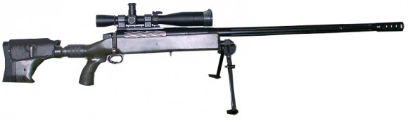 McMillan TAC-50 heavy sniper rifle. The same rifle model was used by the Canadian sniper to set the world record for the longest kill shot. (MathKnight [CC BY-SA 3.0 (http://creativecommons.org/licenses/by-sa/3.0)], via Wikimedia Commons)