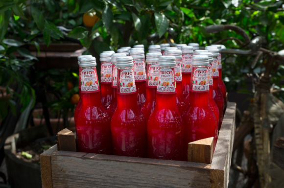 The Blood Orange soda, used with blood oranges from Sicily. (Courtesy of La Galvanina)
