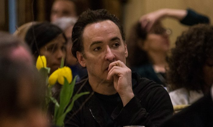 Actor John Cusak attends the George Polk Awards on April 11, 2014 in New York City.  (Photo by Andrew Burton/Getty Images)