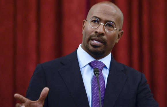 Van Jones speaks at Russell Senate Office Building on April 28, 2016 in Washington, DC. (Leigh Vogel/Getty Images)