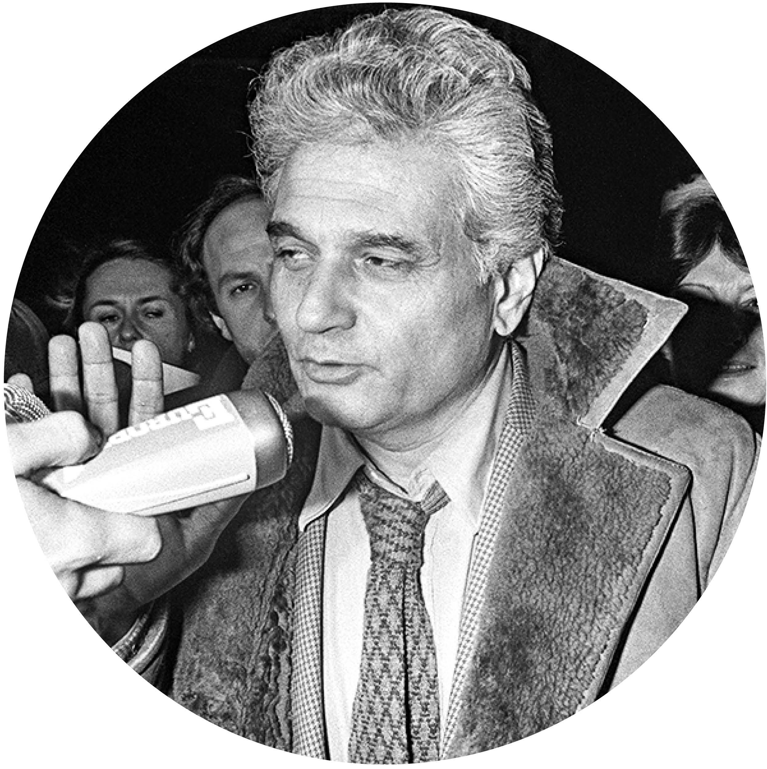 Postmodernist philosopher Jacques Derrida.