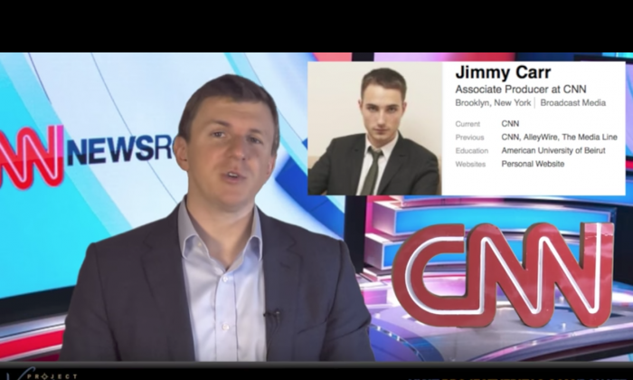 James O'Keefe of Project Veritas in his third part expose on CNN. (Project Veritas/YouTube screenshot)