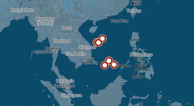 A map shows the maneuver (Google Maps via USNI)