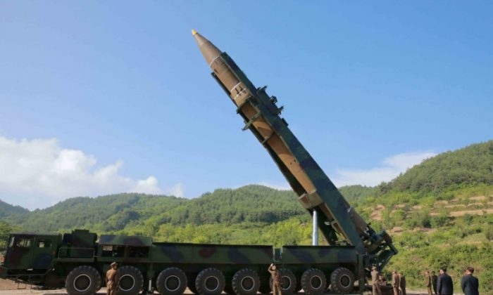 The intercontinental ballistic missile Hwasong-14 is seen in this undated photo released by North Korea's Korean Central News Agency (KCNA) in Pyongyang on July, 4 2017. (KCNA/via REUTERS)